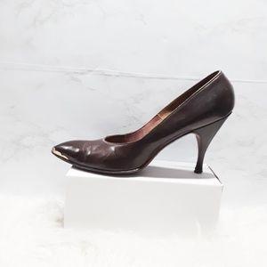Vintage   Custom Leather Cap Toe Heels